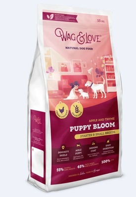 APPLE & THYME PUPPY BLOOM(STARTER & SMALL BREEDS)- 15 Kgs Pack image