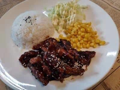 Honey Sauce Pork Rice image