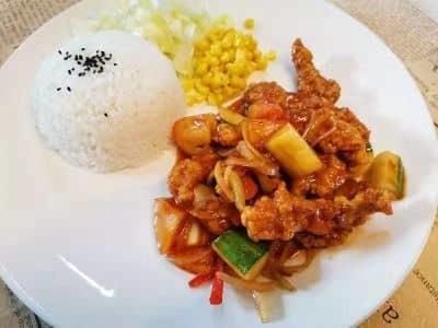 Sweet & Sour Pork Rice image