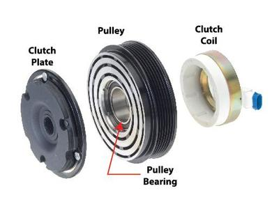 MITSUBISHI 3.2 AIR COND COMPRESSER MAGNETIC CLUTCH SET (OUT) image