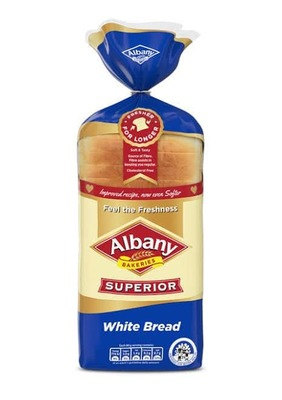 ALBANY BREAD WHITE SLICED image