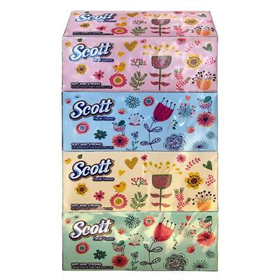 Scott Facial Tissues Box Natural 90s x 4 x 16 (case) image
