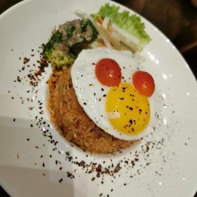 Kimchi Chicken Fried Rice image
