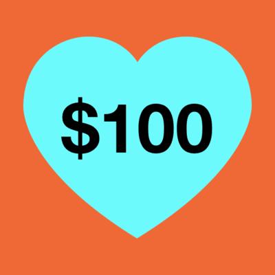 $100 Donation image