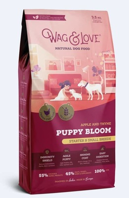 APPLE & THYME PUPPY BLOOM(STARTER & SMALL BREEDS)- 3.5 Kgs Pack image